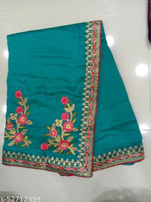 Silk Zari Work Embroidery Party & Wedding Wear Saree With Blouse