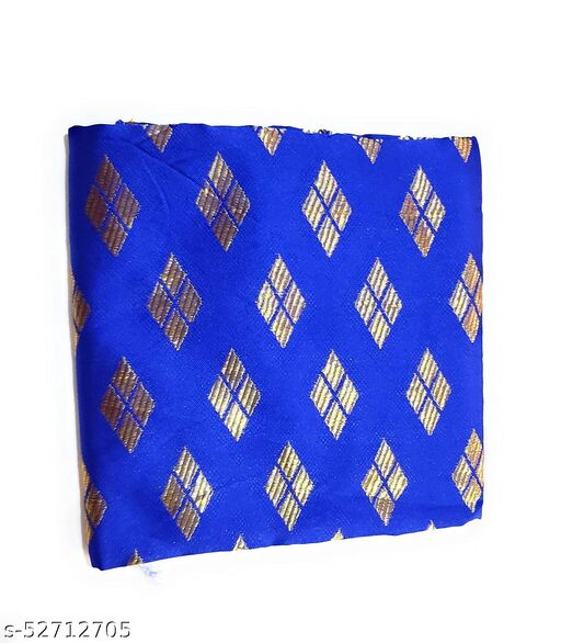 Cotton Blend Multi-colors Unstitched Fancy Blouse Materials 1 Meters Each.(Pack of 10 Pieces)