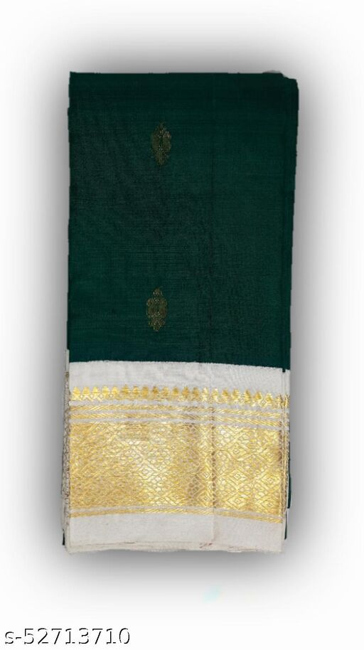 One Side Border Thirubuvanam Silk Sarees without blouse