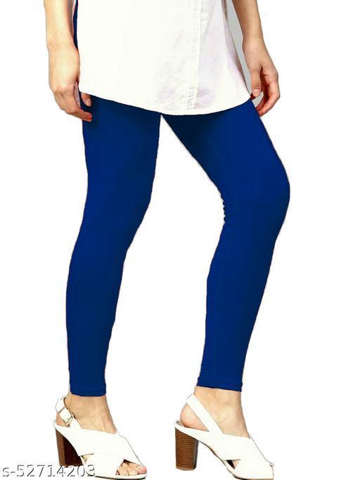 Women's Cotton Lycra Leggings Ankle Length XL and XXL (RoyalBlue)