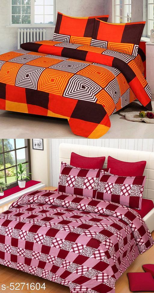 Elite Alluring Polycotton 90 X 90 Double Bedsheets