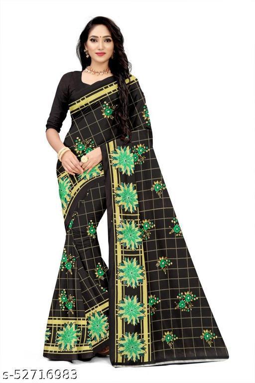 Reniyal 6 mtr. Printed facny padding style with blouse saree