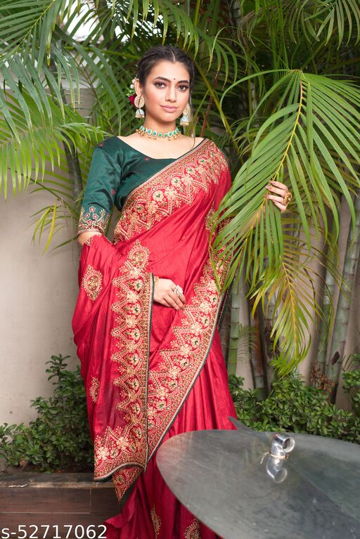 embroidery blouse sarees for women latest design