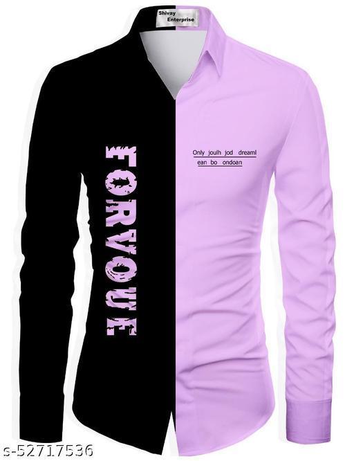 purple color shirt for men unstiched fabric