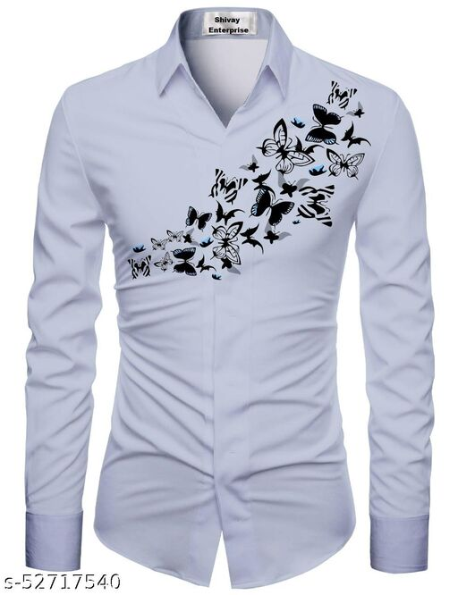 grey color shirt for men unstiched fabric