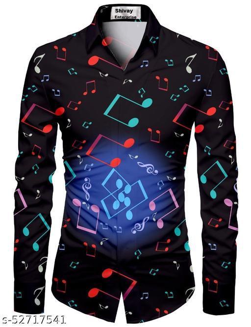 balck color shirt for men unstiched fabric