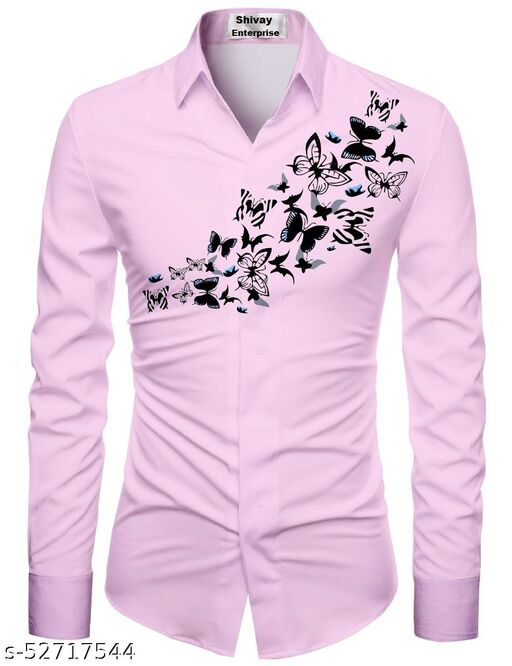 pink color shirt for men unstiched fabric