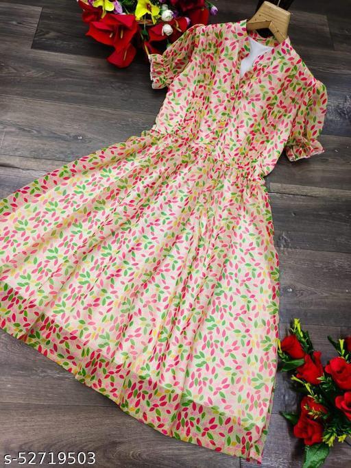 WOMAN STYLISH ONE PCS DRESS