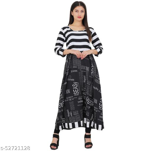 Trendy Paper print party & casual wear kurta