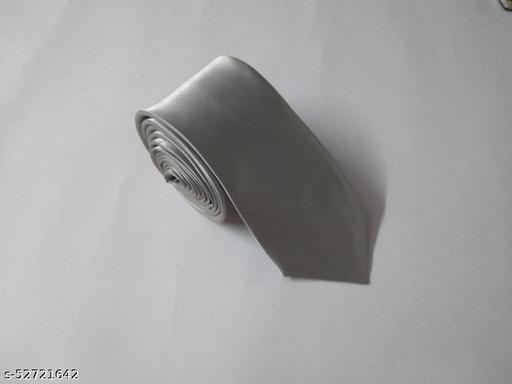 Unique Classy Silver Colored Necktie for Men