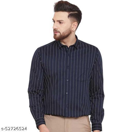 Stylish Cotton Stripped Formal mens shirt