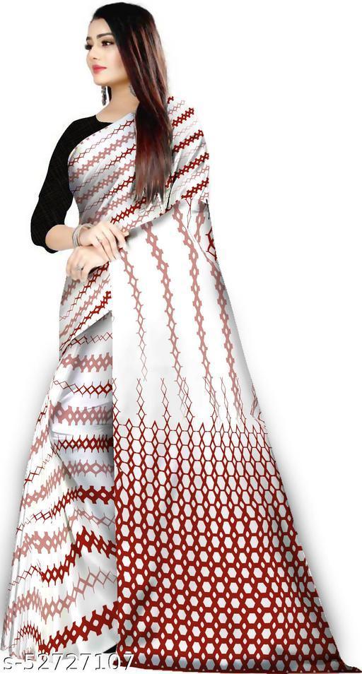 Satin Silk Digital Print Saree