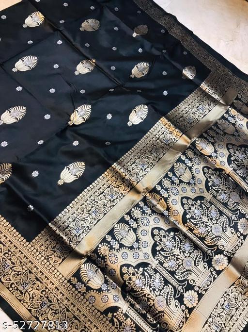 BLACK WOLF Taj Mahal Silk-2 Kanchipuram Pure silk handloom saree