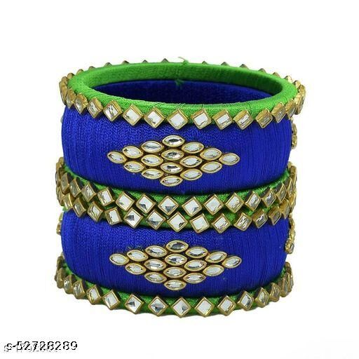 Handmade Silk Thread Bangle set for Women