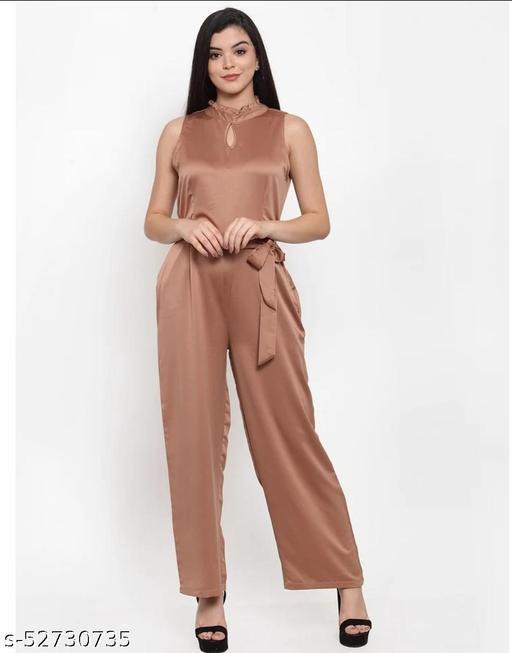 Sleeveless Brown Jumpsuit