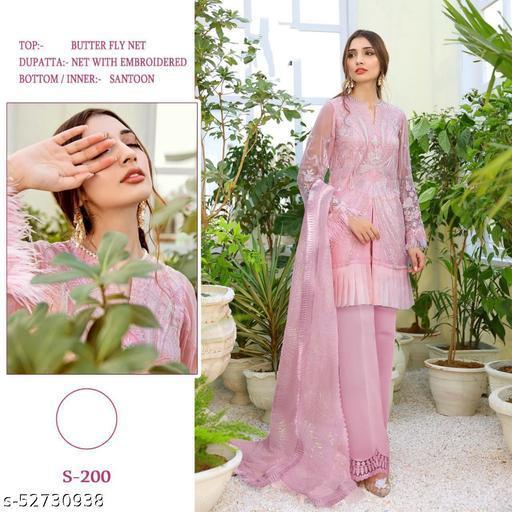 S-200 Baby Pink Pakistani Suit