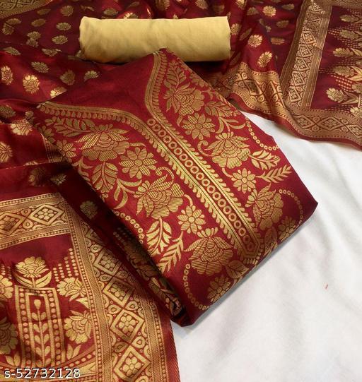 Silk Self Design Salwar Suit Dress Material  (Unstitched)