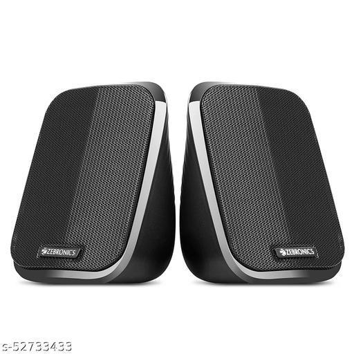 ZEBRONICS Zeb-Fame 3 watts 2.0 Multi Media Speakers with AUX, USB and Volume Control (Black)