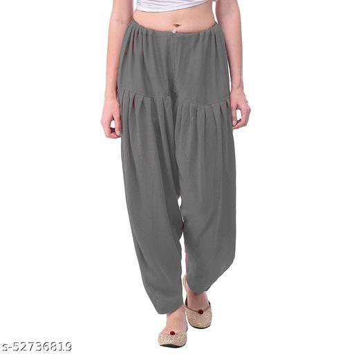 "TNQ Women's Pure Woolen Salwar/Warm Patiala Salwar (Free Size Waist Fits upto 28"" to 48"", Length- 39"")"
