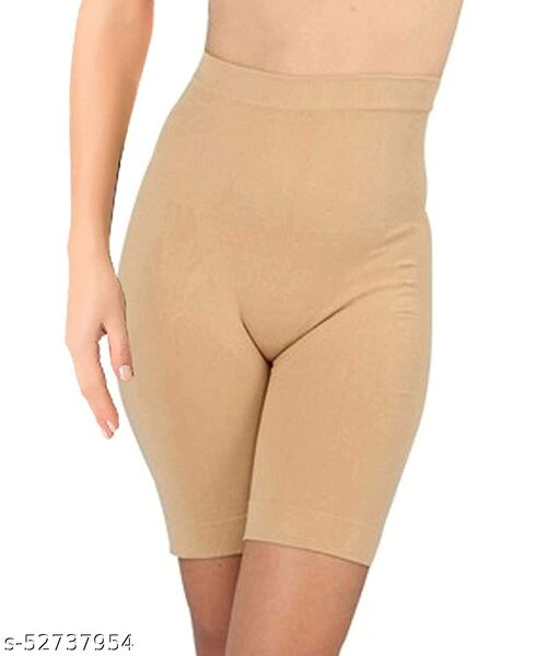 Women's Spandex & Nylon Tummy Control High Waist and Thigh Shapwear (Free Size Fit Up to M-L-XL-XXL)