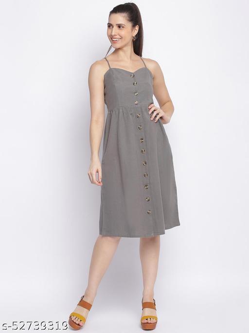Shoppertree grey solid dress