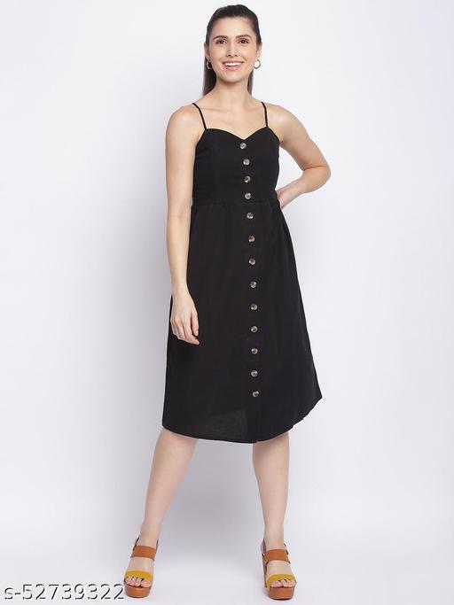 Shoppertree black solid dress