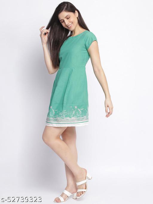 Shoppertree Green printed dress