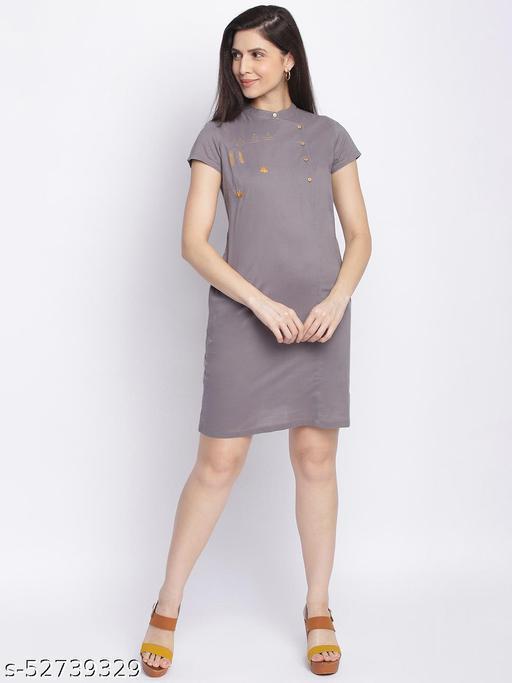 Shoppertree Solid grey dress