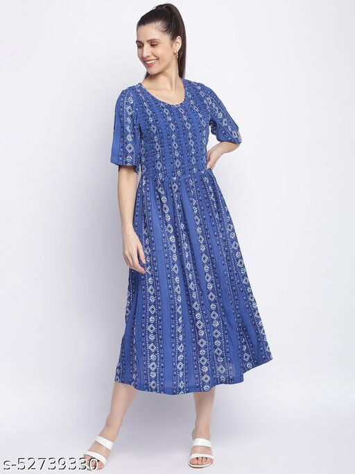 Shoppertree blue printed dress