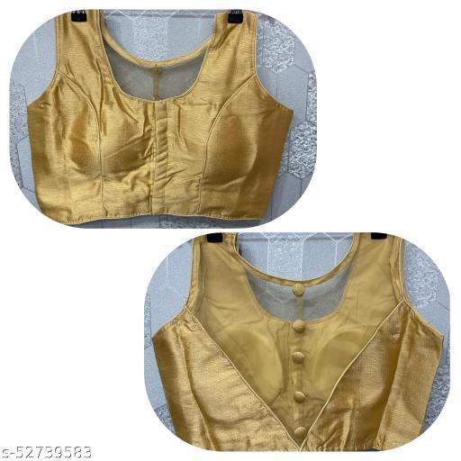 Sleeveless back net fiancé blouse readymade