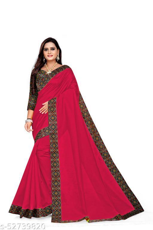 Joya Silk Saree With Lace Border