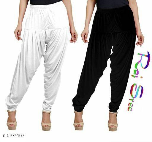 Attractive Women's Patiala Pants (Pack Of 2 )