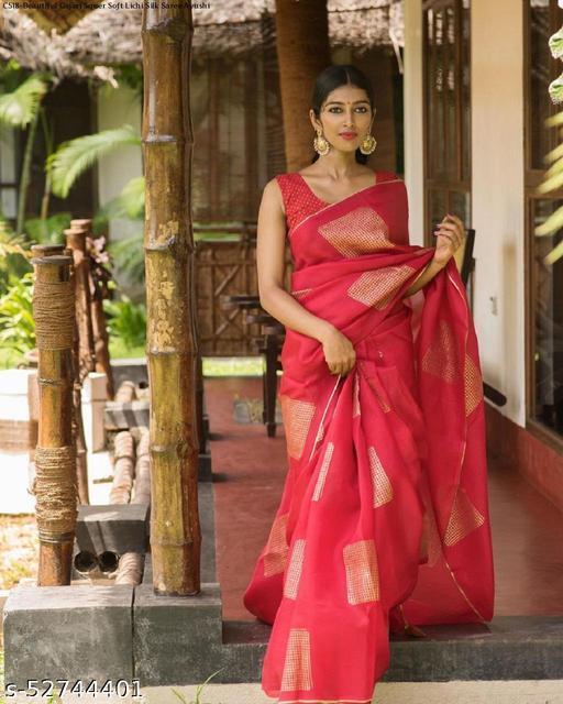 AR Saree Women's Pure Silk Saree With Blouse Piece