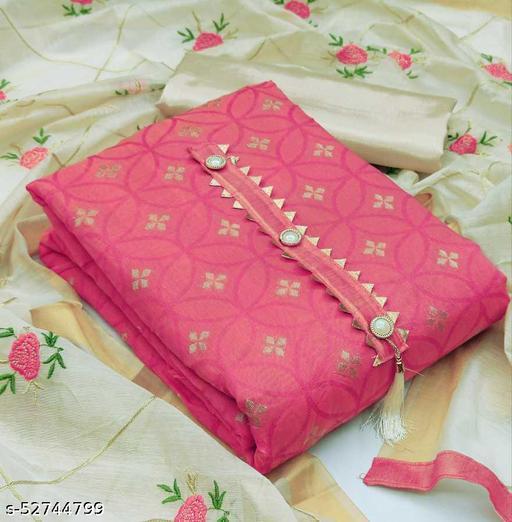 Jacquard Embroidered Kurta & Churidar Material  (Unstitched)
