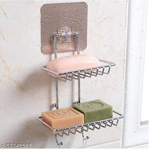 2 layer soap  stand with hook