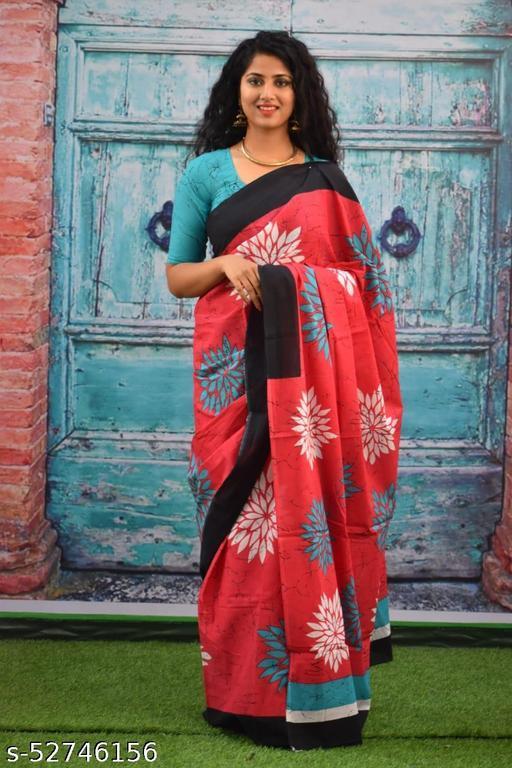 cotton print saree