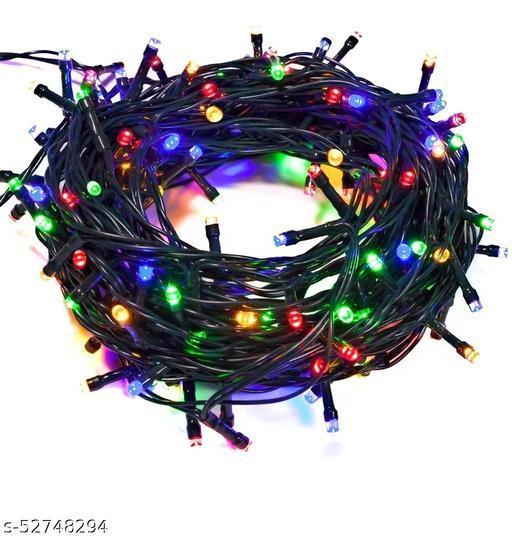 IGNOTO (Pack of 5) (17 Feet) high Brightness Multi Function LED ladi Christmas String Light for Festive Decoration, Diwali (Multicolor)