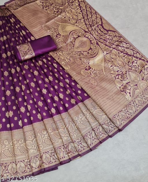 Falguni Banarasi silk saree with zari blouse
