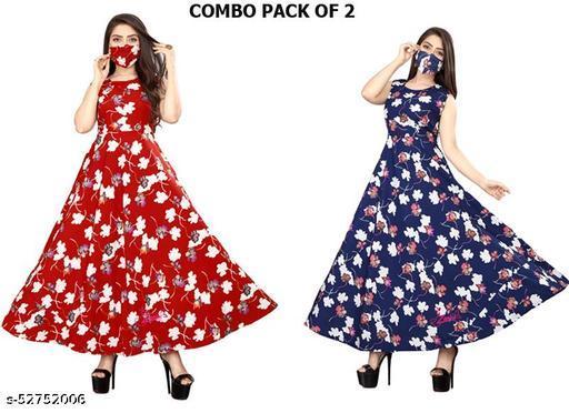 Zanies sieeveless crepe maxi dress combo pack of 2