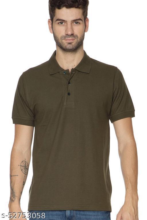 Younger Threads Milatery Green Collar T-Shirt