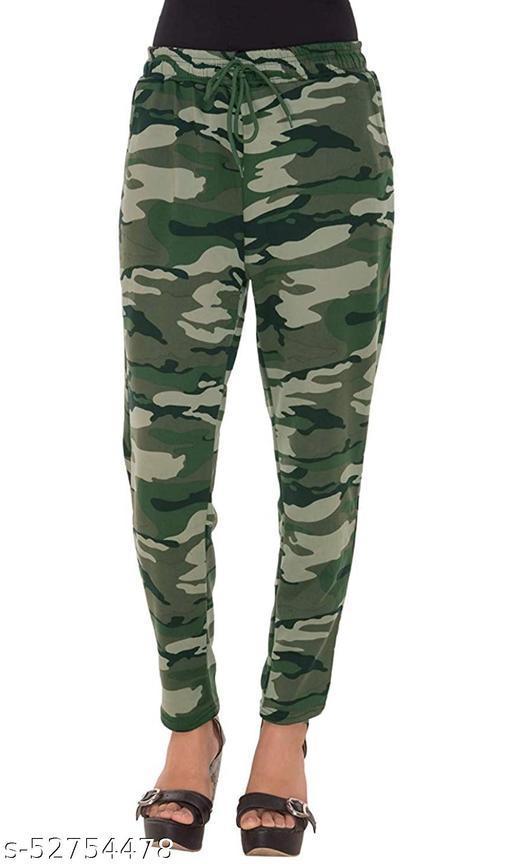 TNQ Women's Winter Warm Printed Fleece Tights/Leggings Trouser Yoga Pants Free Size