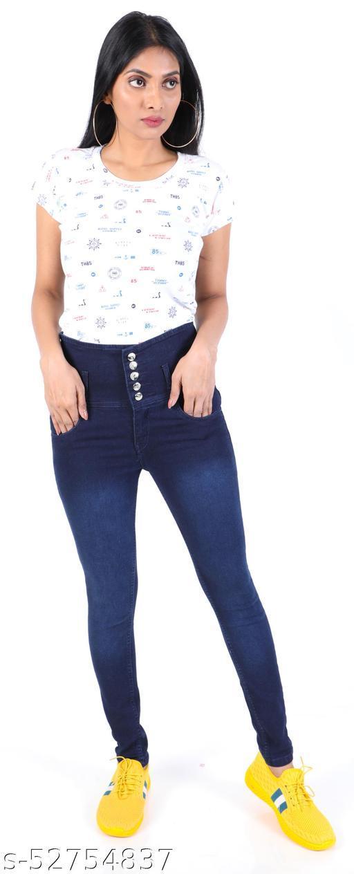 NiNe-Xm Blue High Rise Stylish Jeans