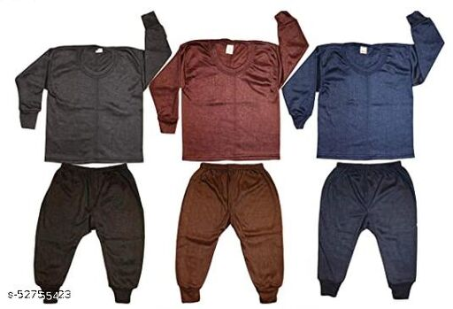 baby boys & girls top - pajama thermal set