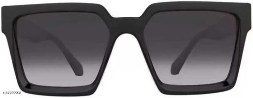 Advanced Trendy Unisex Badshah Black Frame Black SunGlasses