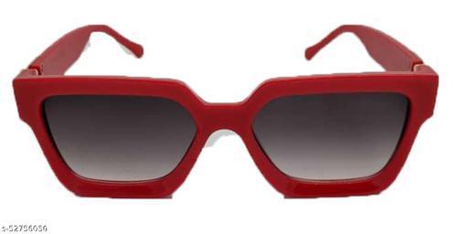 Advanced Trendy Unisex Badshah Red Frame Black Glass