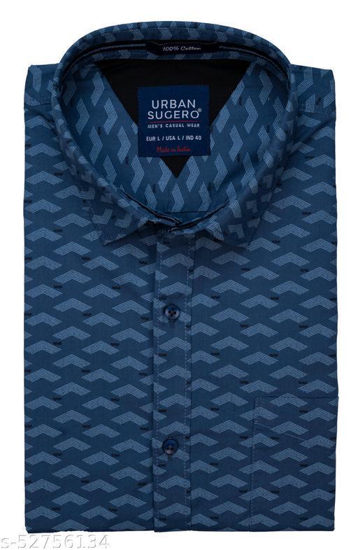 Men's Printed Cotton Slim Fit Party Wear Shirt