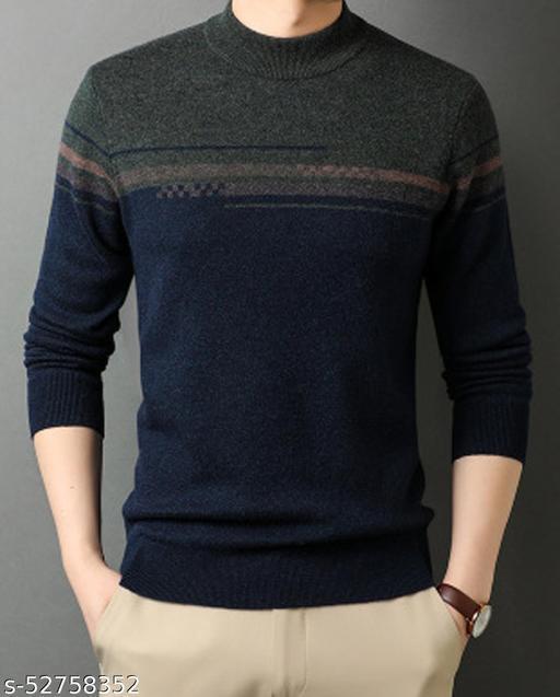 SHAUN Men Pure Woollen Sweater