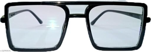 Trendy & Stylish Unisex Black Frame Clear Glass