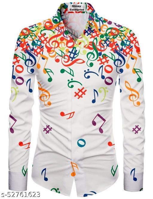 whit  color unstitched shirt for men