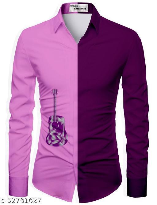 pink color unstitched shirt for men